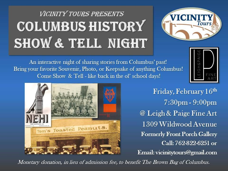 Columbus History Show & Tell Night