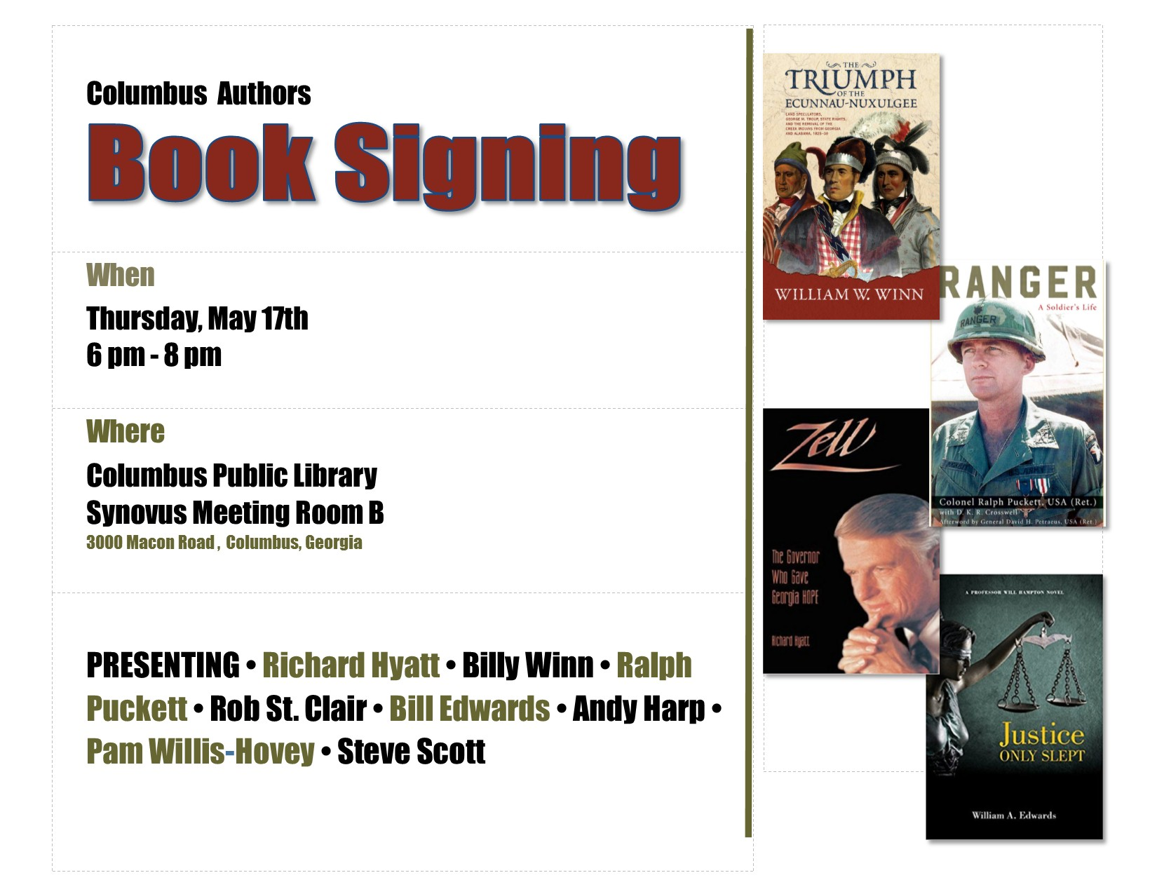 Columbus Authors Book Signing