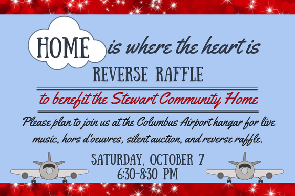 Home Is Where The Heart Is Reverse Raffle to benefit the Stewart Community Home