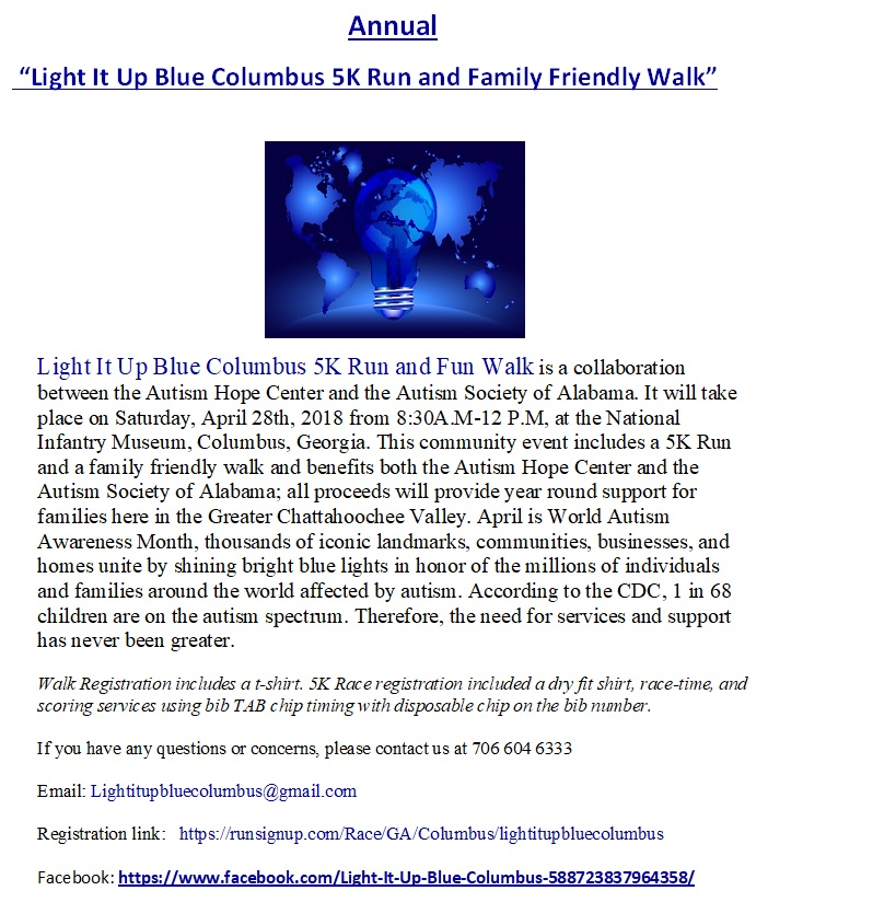 Light It Up Blue Columbus! 5K Run & Family Fun Walk