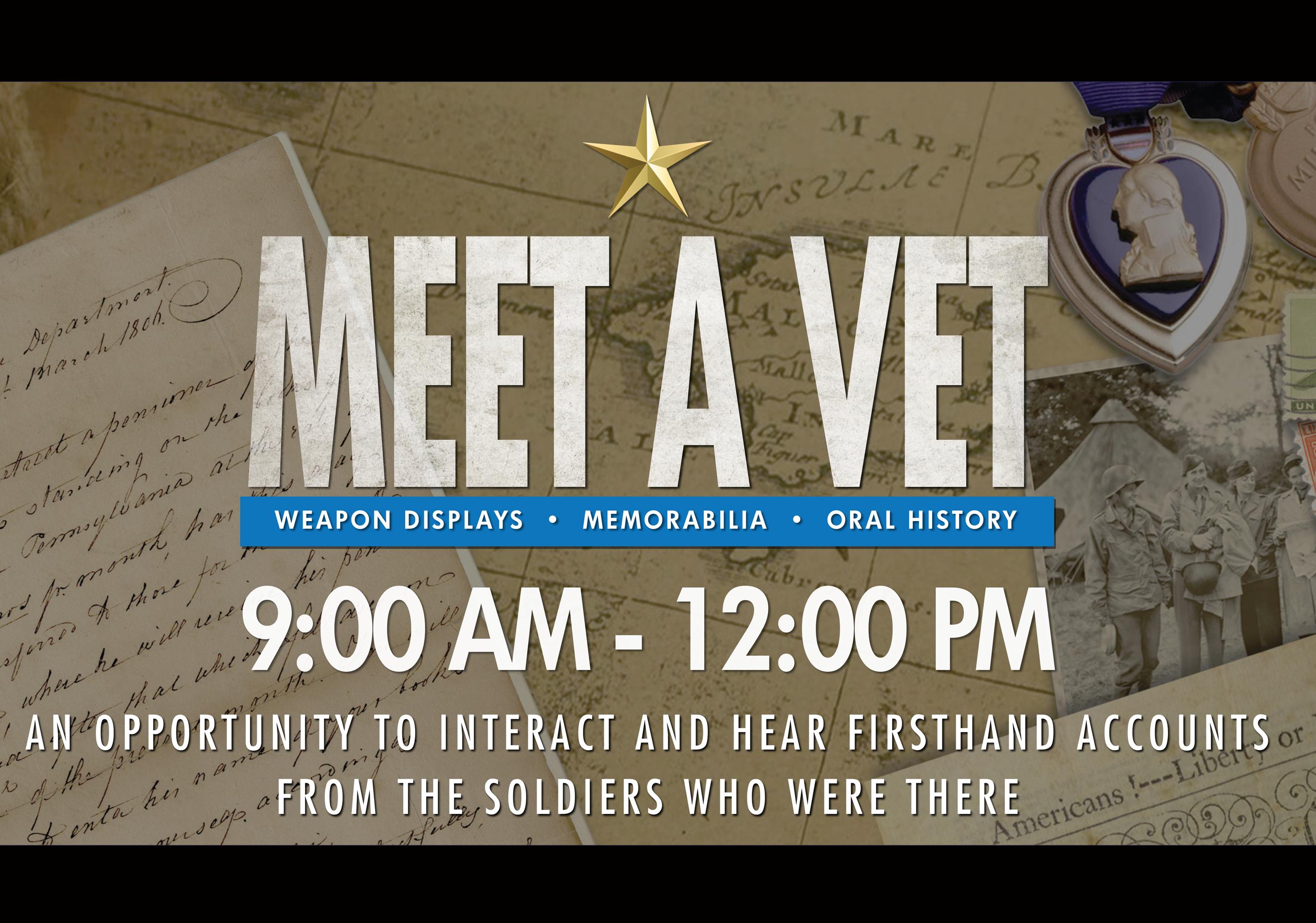 Meet A Vet & Third Saturday Tours!