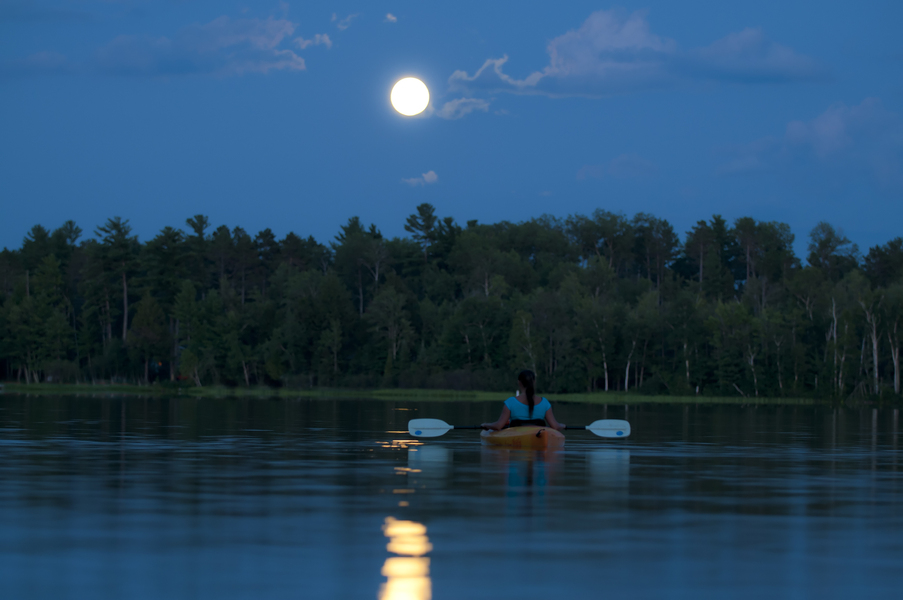 Moonlight Paddle at FDR State Park