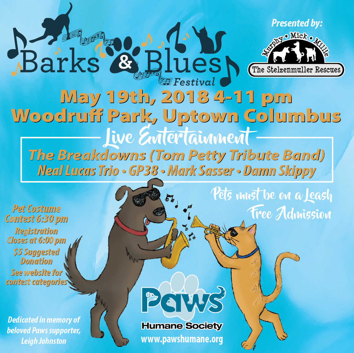2018 Barks and Blues Festival Hosted by Paws Humane