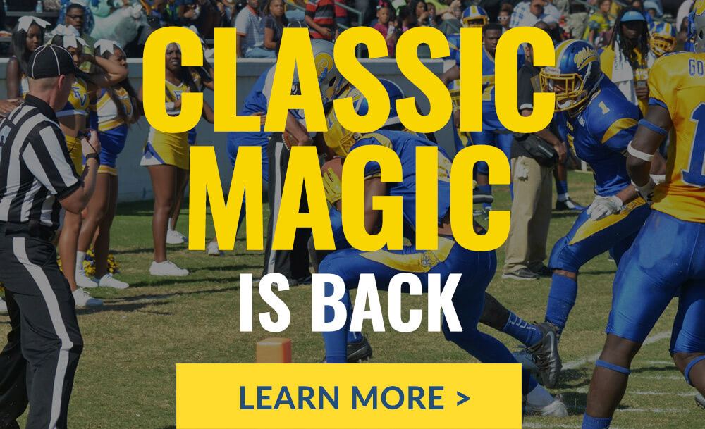 The Fountain City Classic (FCC) is an annual American football game featuring Fort Valley State University (Wildcats) and Albany State University (Golden Rams), two historically black universities (HBCU). The game will be Saturday, November 6, 2021 at 2:00p.m. Click to learn more.