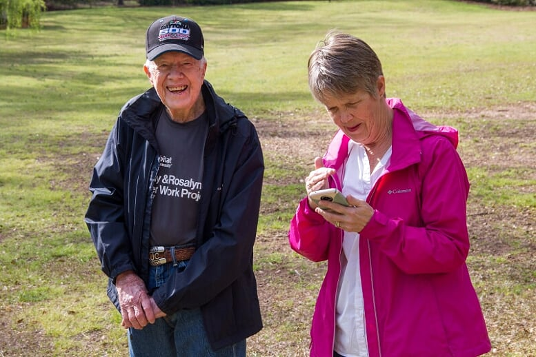 President Jimmy Carter with his niece Kim Fuller.