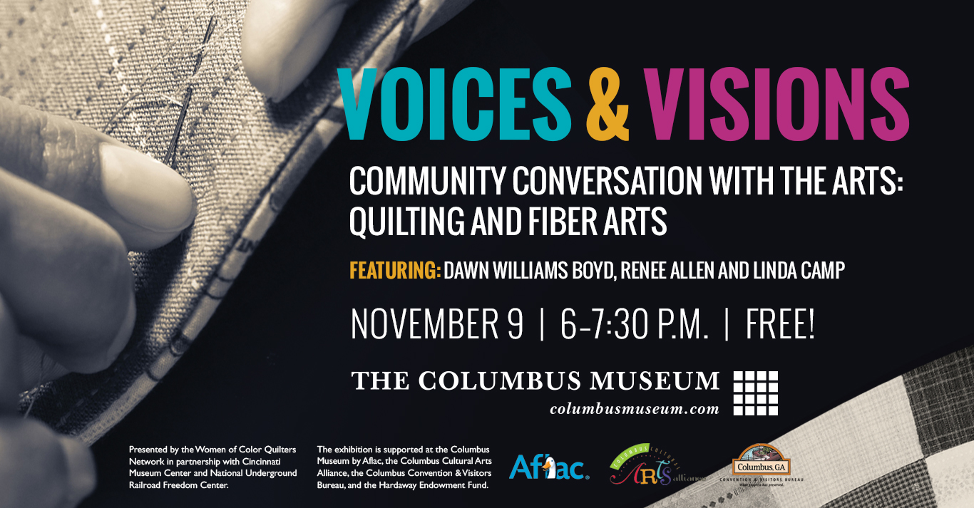 Voices & Visions:Community Conversation with the Arts–Quilting and Fiber Arts