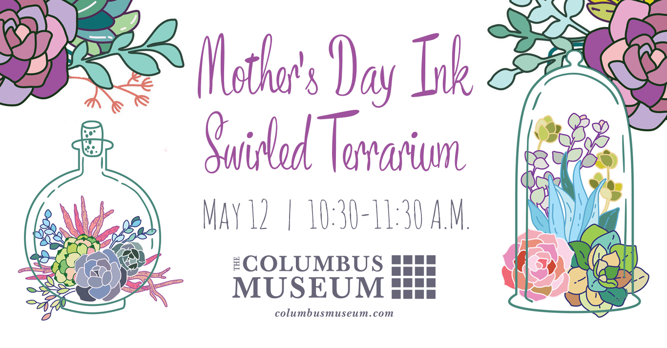 Mother's Day Ink Swirled Terrarium