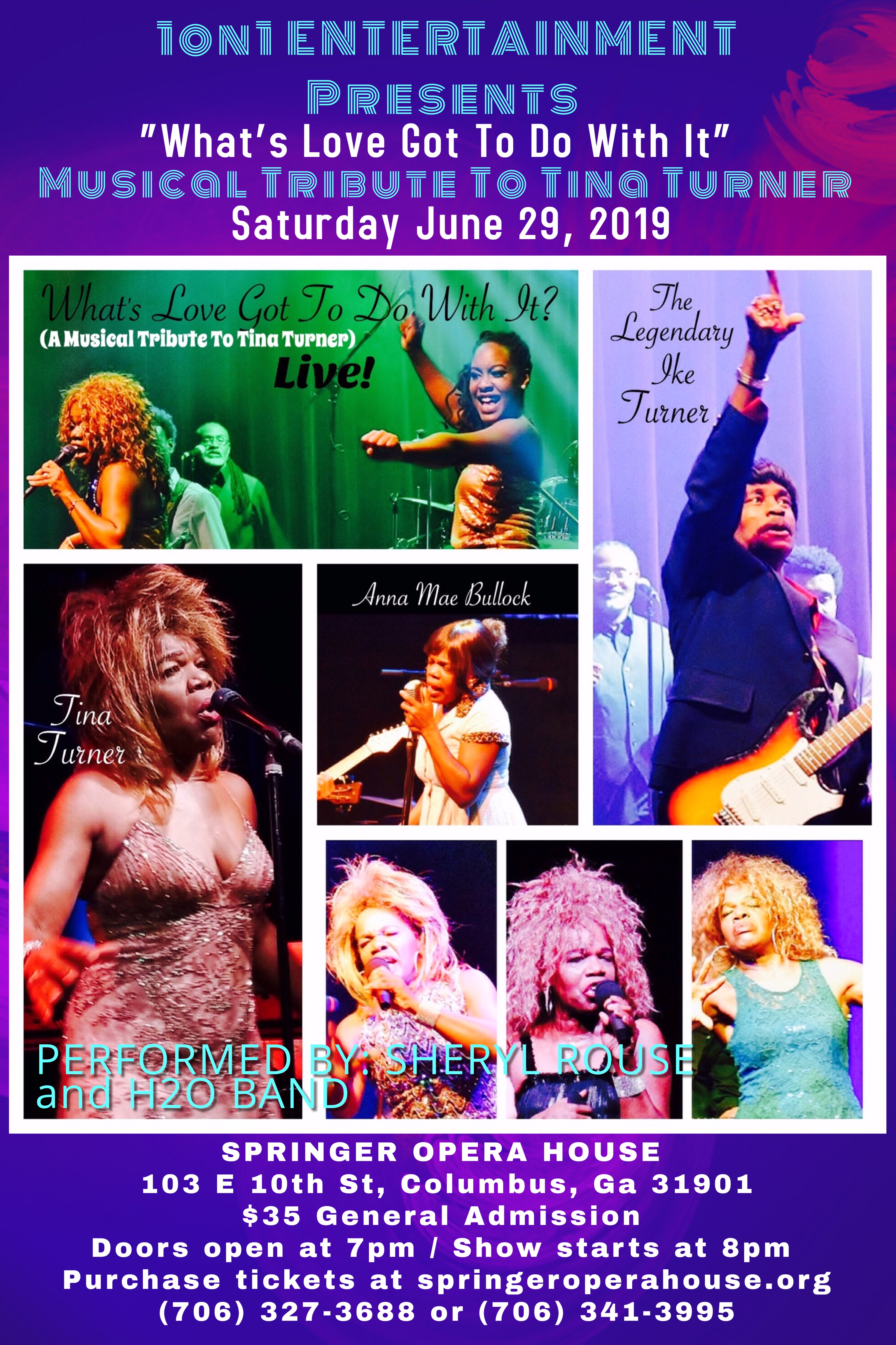 Musical Tribute To Tina Turner at Springer Opera House