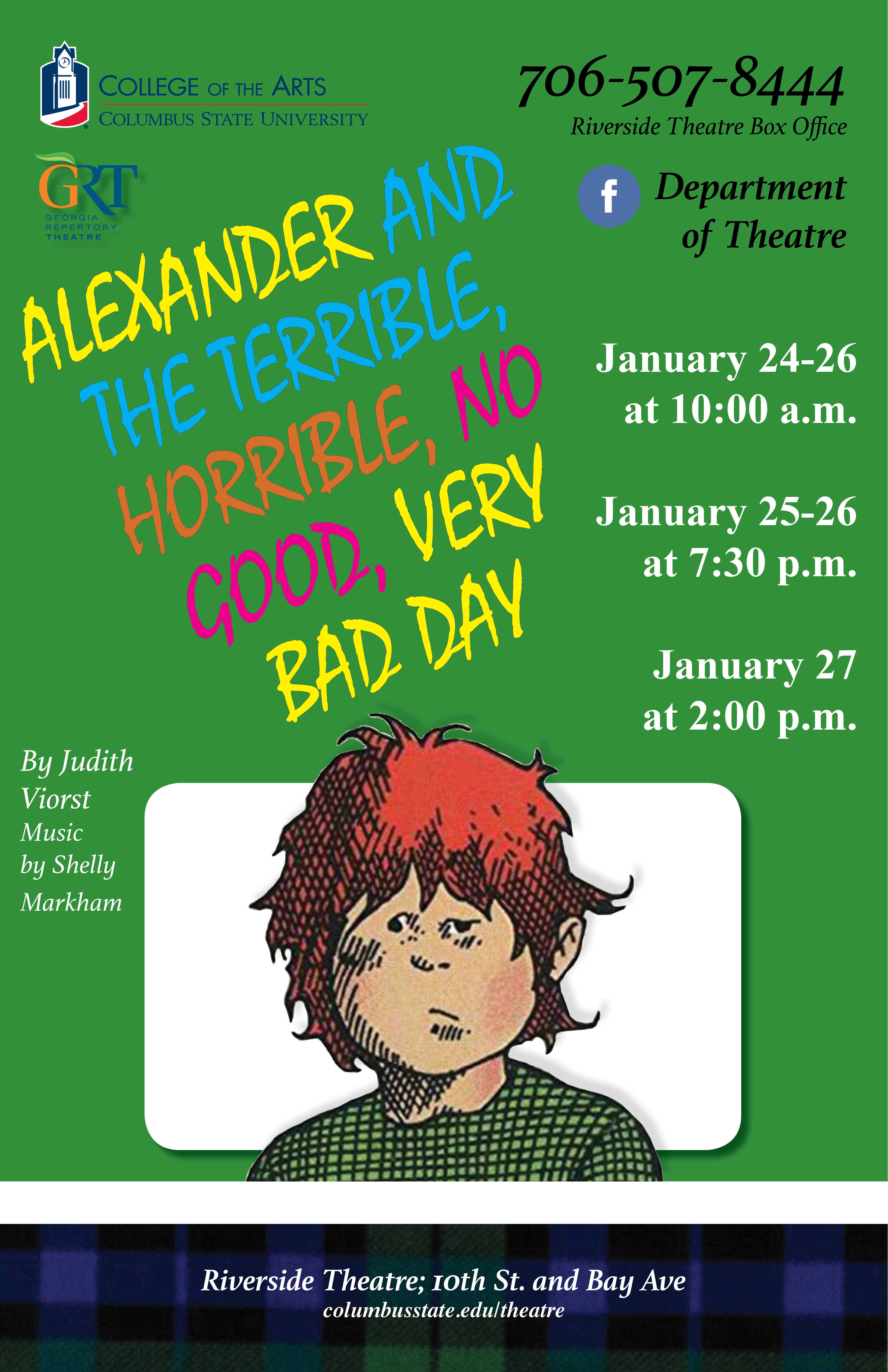CSU Theatre: Alexander and the Terrible, Horrible, No Good, Very Bad Day