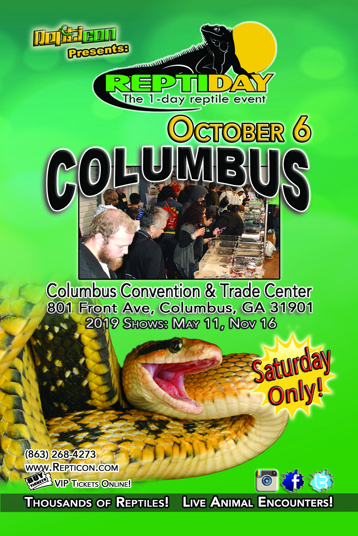 ReptiDay Columbus Reptile & Exotic Animal Show