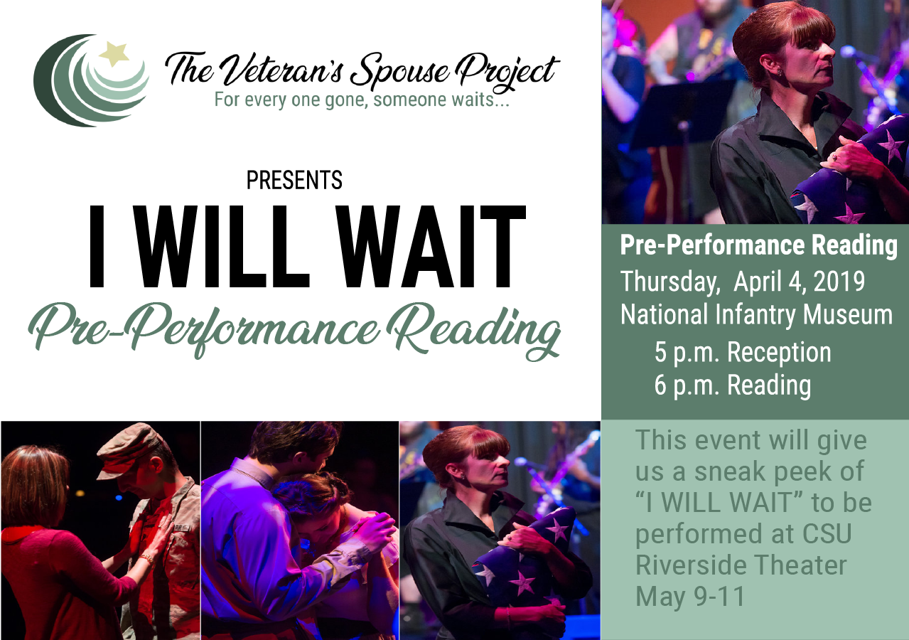 The Veteran's Spouse Project: I Will Wait Reading