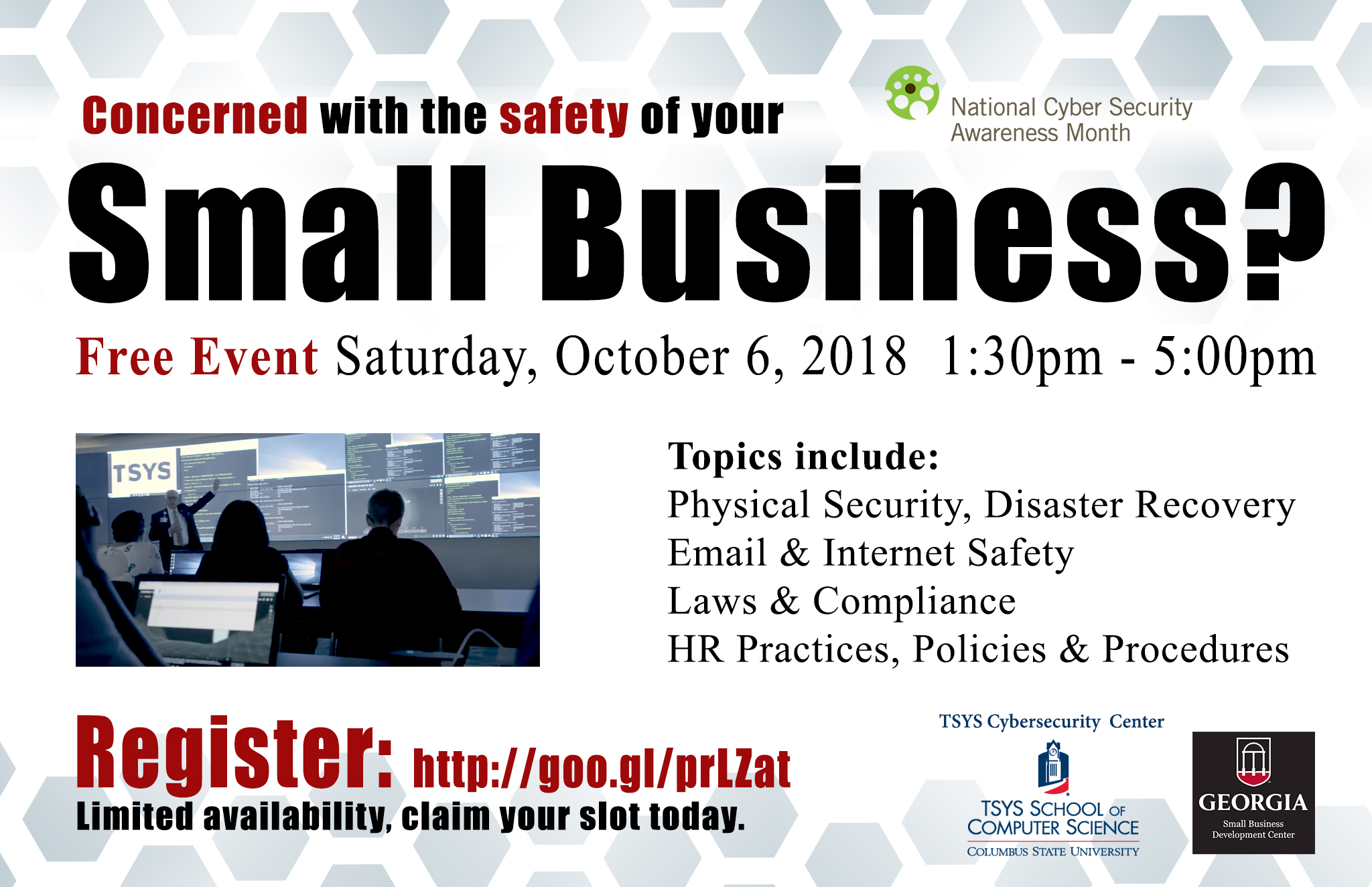 TSYS Cybersecurity Center Presents: Cyber Savvy Small Business