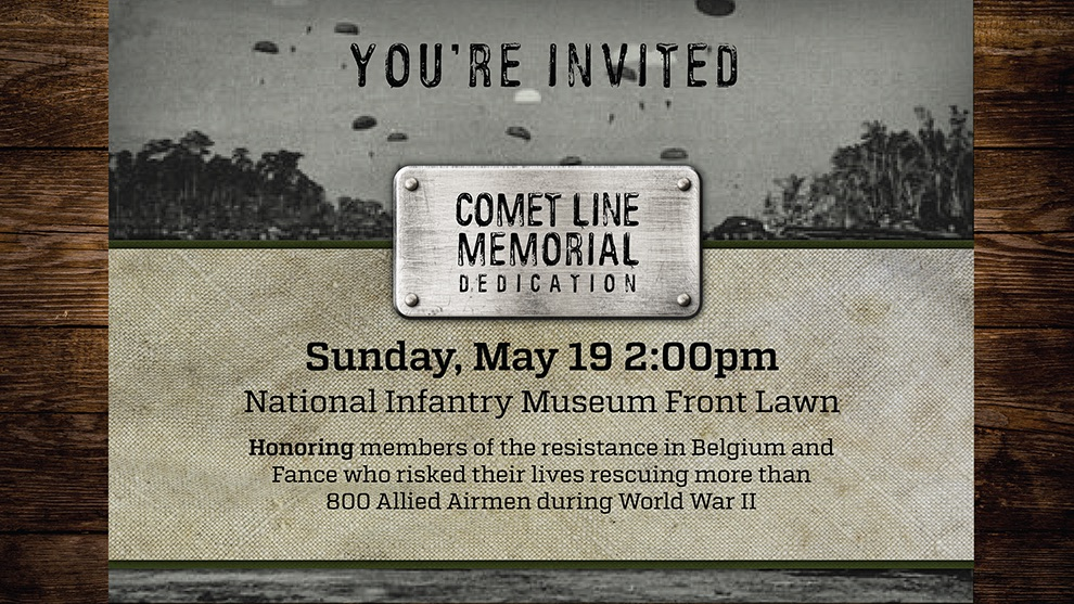 Comet Line Memorial Dedication at National Infantry Museum