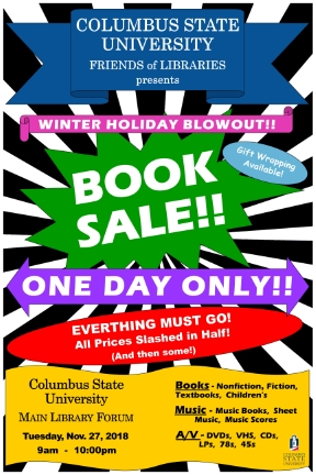 Columbus State University Friends of Libraries One-Day-Only Book Sale