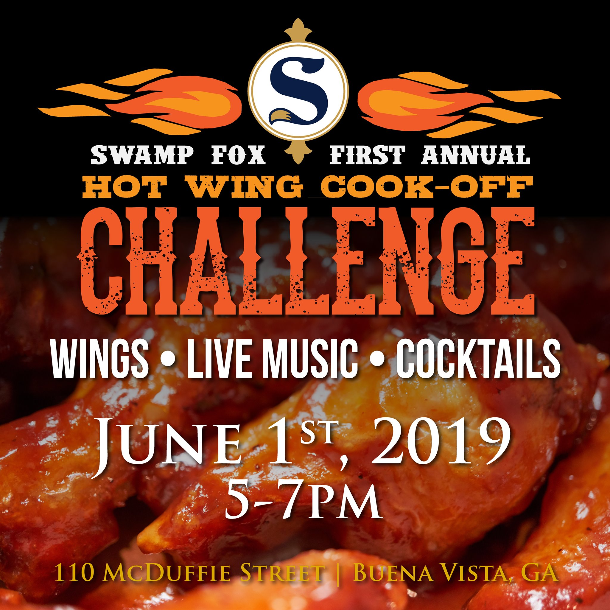 Swamp Fox Distilling's Hot Wing Cook-Off
