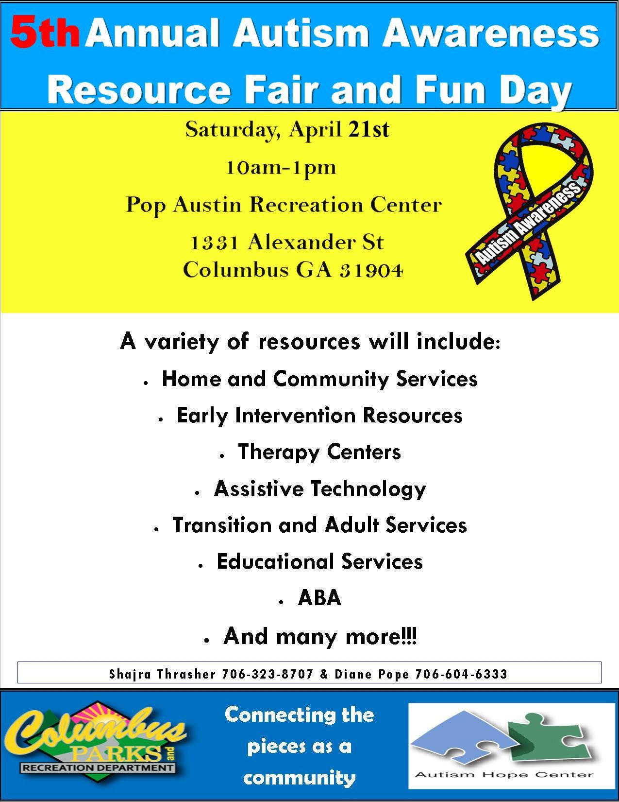 5th Annual Autism Awareness Resource Fair and Fun Day