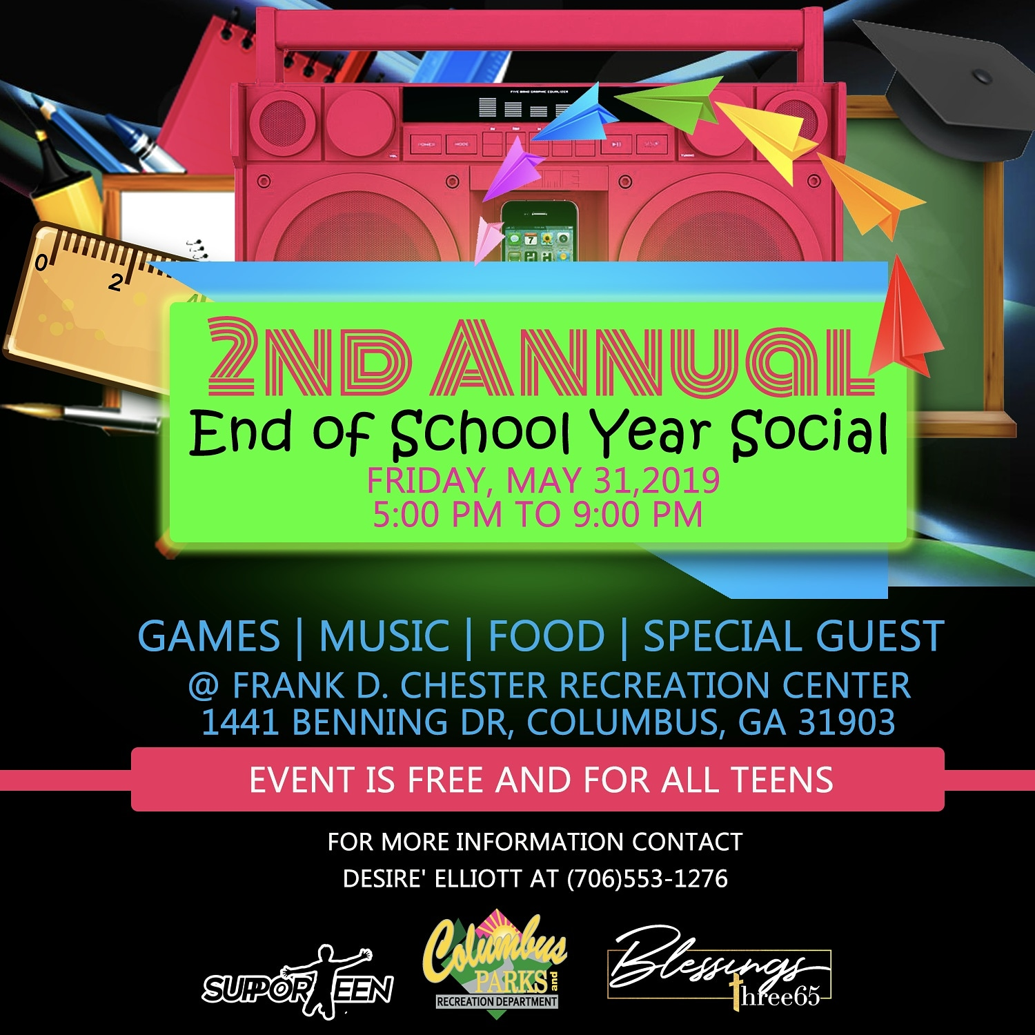End of the School Year Social