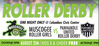 Muscogee Roller Girls vs Panhandle United