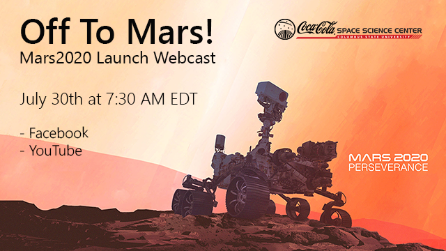 Off to Mars! Mars 2020 Launch Webcast