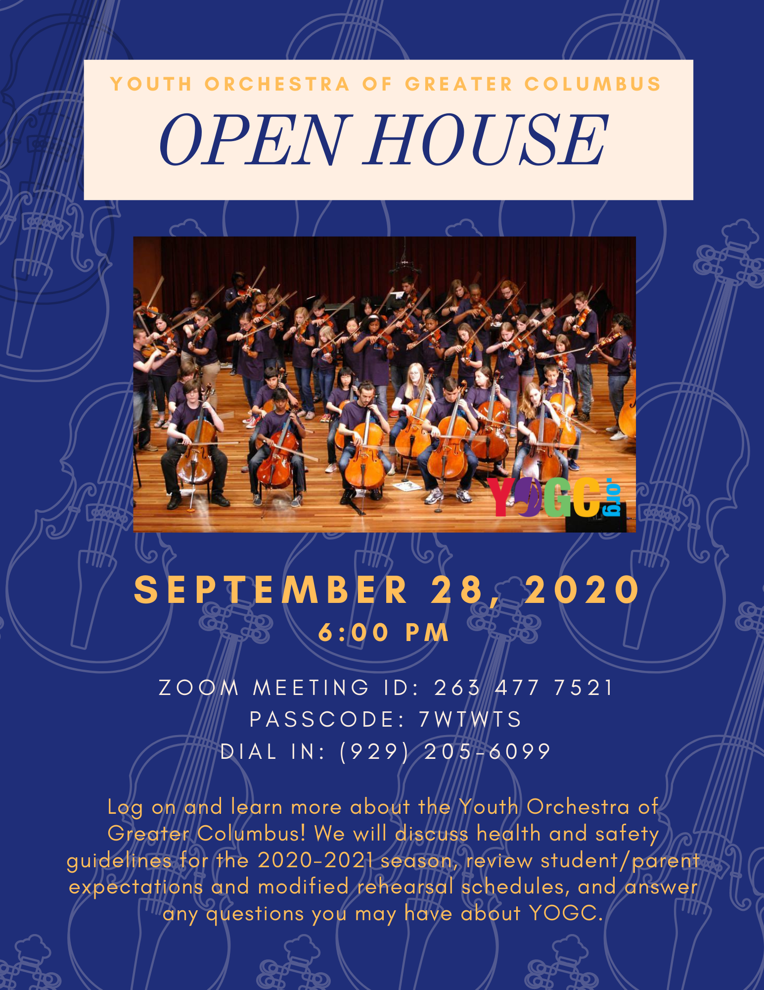 YOGC Season Open House (Virtual)