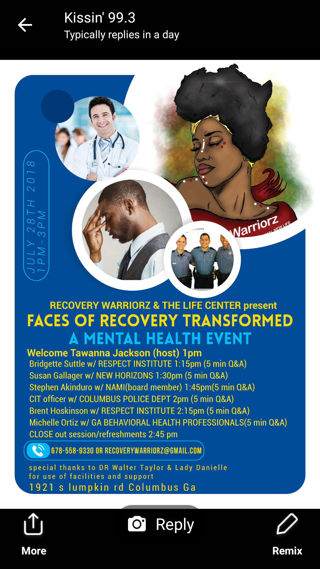 FACES OF RECOVERY TRANSFORMED