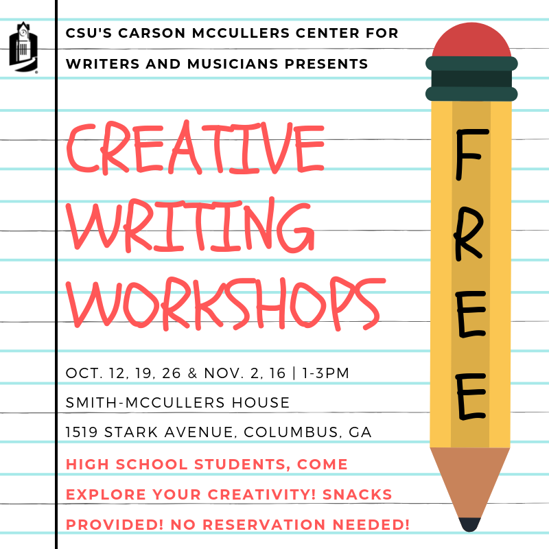 FREE Creative Writing Workshops for High School Students