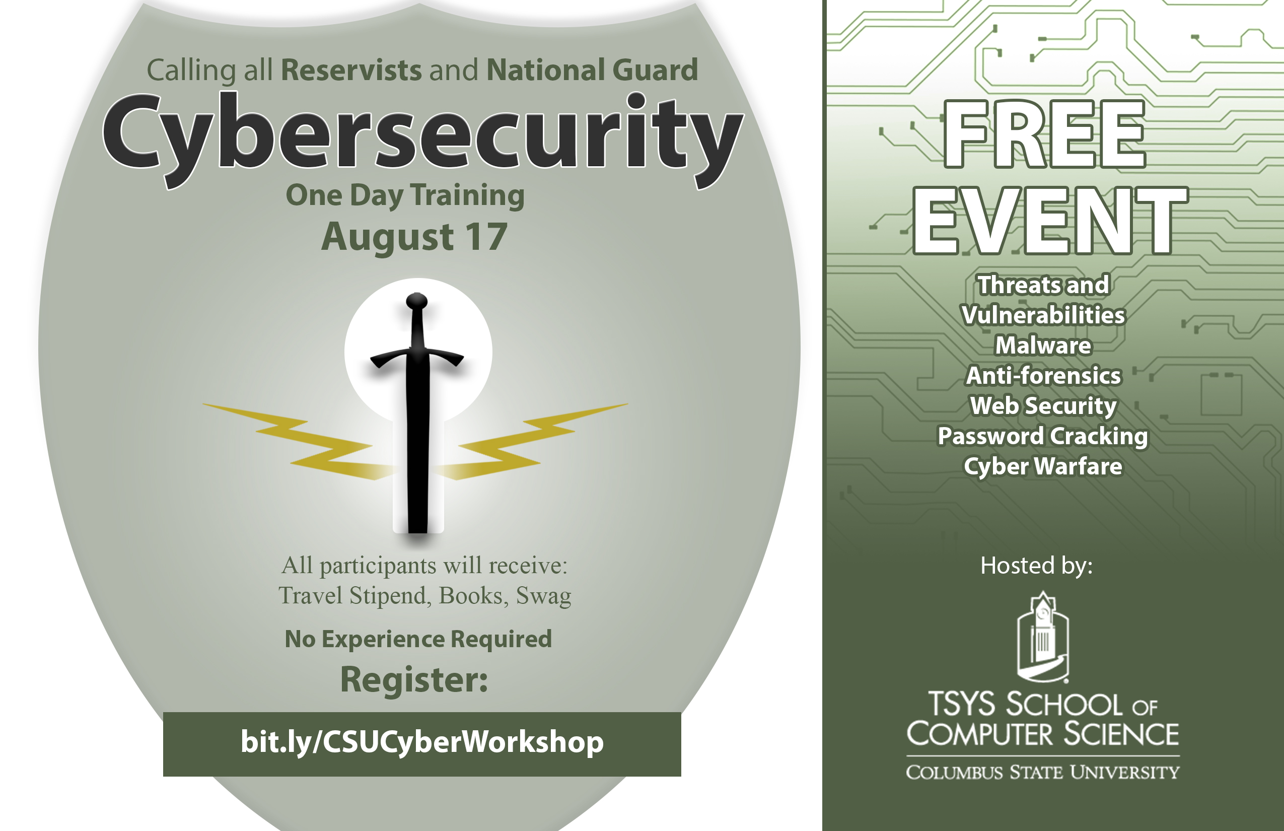 Army Reservists and National Guard free one-day Cybersecurity Training
